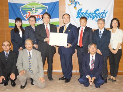 AMDA 徳島県と、国際医療支援に向けて連携協定