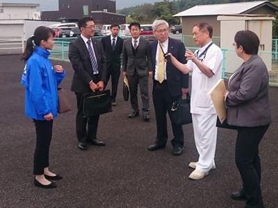 南海トラフ災害に向けて倉敷成人病センター、徳島県牟岐町を訪問