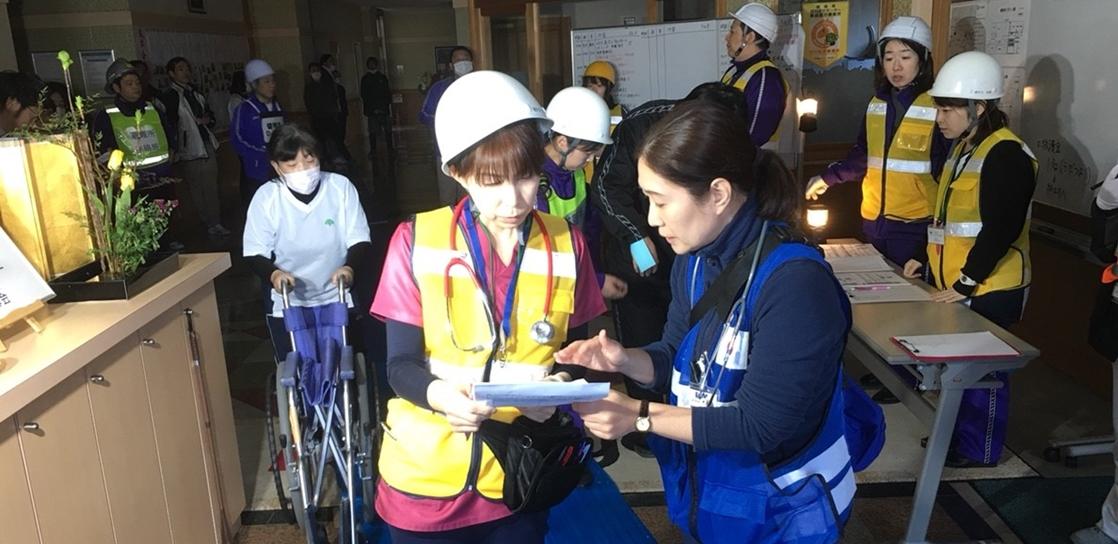 全日本病院協会救急災害訓練に参加