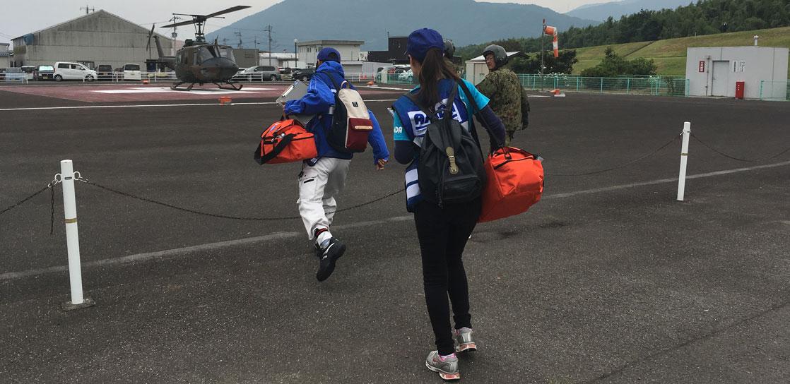 南海トラフ地震を想定した自衛隊演習訓練「南海レスキュー」へ参加